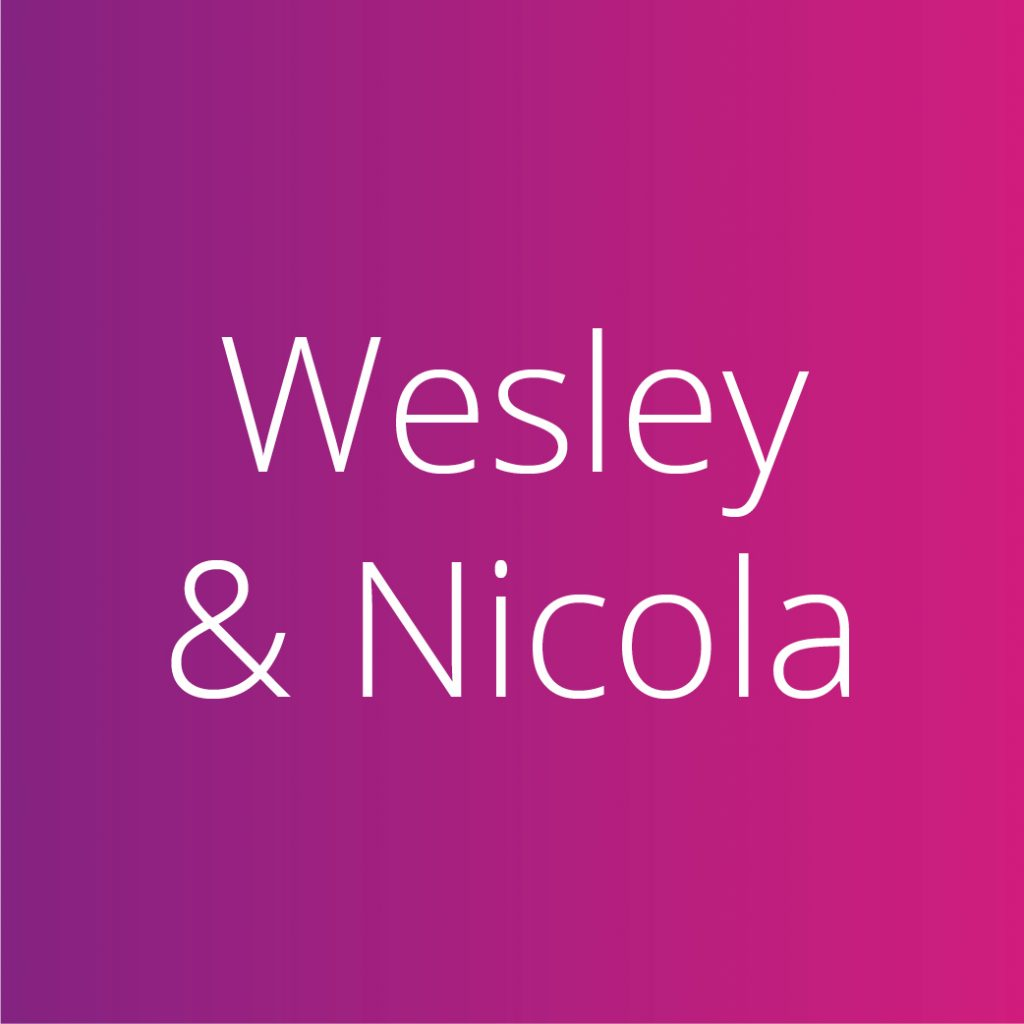 Wesley and Nicola