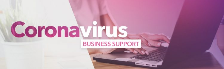 Header image saying 'Coronavirus Business Support'
