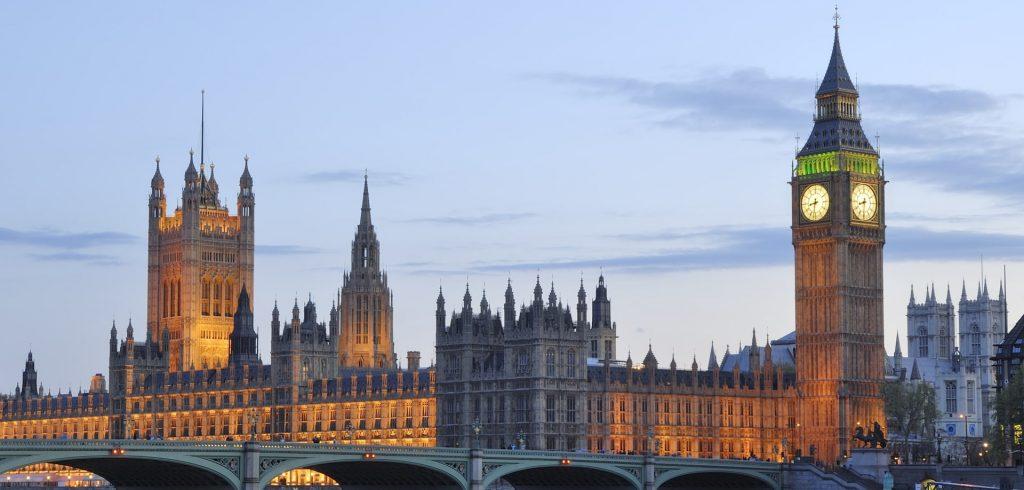 UK Parliament and Big Ben buildings at night